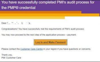 Samples of PMP Application Rejection and Failed Audit Emails